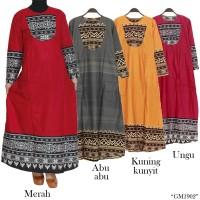 gamis maxi katun list batik songket 1906