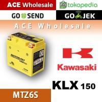 Aki kering gel KLX 150 Kawasaki MOTOBATT MTZ6S accu motor u/ GS Yuasa