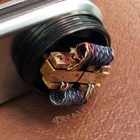Azeroth Coil Parallel Clapton Ni-SS + Twisted 0.25 ohm Koil Jadi RDA