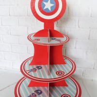 cupcake stand captain america / cupcake 3 tier captain america