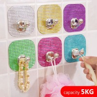 Colorful Crystal Magic Hook Single Gantungan Tempel Ajaib Murah0201