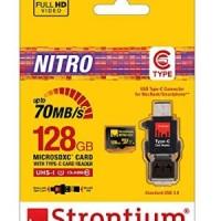 Strontium Nitro UHS-1 MicroSD With Type C Card Reader 128GB