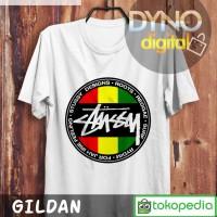 Kaos Reggae Surf Stussy Logo T Shirt