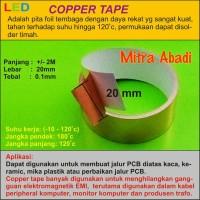 Copper Tape/Tembaga Tape 2 meter x 20 mm
