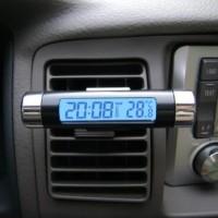Jam & Alat Pengukur Temperatur Suhu Digital Aksessoris Interior Mobil