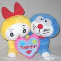 Boneka Couple Doraemon Pasangan Together Kado Hadiah Gift K520950D