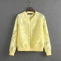 WST 16278 Flower Lace Jacket (YELLOW size S)