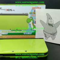 3DS CFW 64GB Permanen TANPA Solder, new 3DS XL / new3DS Lime Green