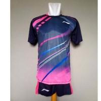 Baju Olahraga Kaos Badminton Setelan Bulutangkis
