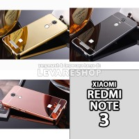 Mirror Case + Metal Bumper - Casing Xiaomi Redmi Note 3 / 3 PRO