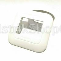 Frame Saklar 1 Gang 2 Device Panasonic Wide (Putih)