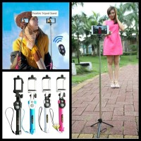 Tongsis 3 In 1 Monopod | Bluetooth Shutter And Build In Tripod WXY