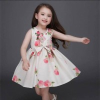 MT5568. DRESS MITUN WHITE FULL FLOWER MAWAR PINK LGN KUTUNG BWH MEKAR+