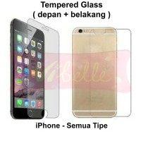 Tempered Glass Depan Belakang iPhone 4 5 5s 6 6s 7 7s 8 8s 9 9s + Plus