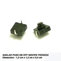 Saklar Push On-Off Senter Persegi Mini
