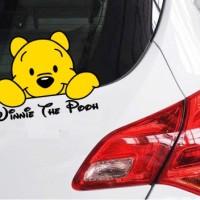 Stiker / Sticker Cutting Kaca / Body Mobil Winnie The Pooh Custom
