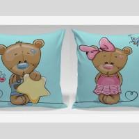 Bantal Couple Valentine Dekorasi Sofa / Mobil - Give Star for me