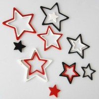 3D Wall Sticker STAR bahan kayu ringan