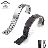 22mm Tali Jam Rantai Metal Stainless Steel Thick Watch Strap Band