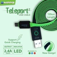 Teleport Versi 2 Lightning Kabel Data Charger iphone 5 6 ipad mini 2 3