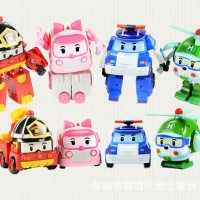MAINAN ANAK FIGURE ROBOCAR POLI 1 SET ( ISI 4 PCS )