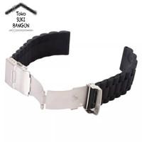 24mm Tali Jam Rubber Chain Watch Strap Silicone Model Rantai