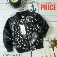 jaket anak leather arrow SALE