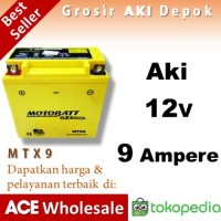 Aki 12V 9 Ampere MTX9 MOTOBATT accu motor gel kering u/ Yuasa GS