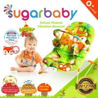 Bouncer Bayi Sugar Baby Deluxe Musical Vibration 1 Recline - Sugar Fox