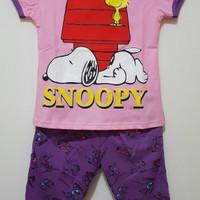 EXCLUSIVE Grosir seri setelan kaos karakter Snoopy 1-6 MURAH