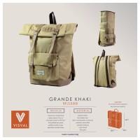 Tas Ransel Laptop Backpack Visval Grande Gendong Punggu Berkualitas