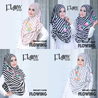 jilbab instan 2 face flowing stripe 2