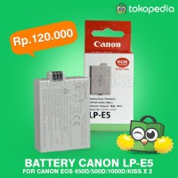 Battery Baterai kamera DSLR canon 450D / 500D / 1000D LP-E5 BEST!