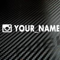 Sticker/Stiker Instagram ID Custom Visor/Kaca Helm AGV,KYT,SHOEI,ARAI