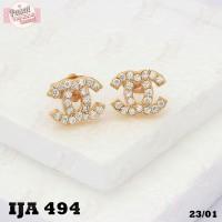 Anting Emas tusuk Branded Gold Perhiasan Imitasi 18k A4 Cashback