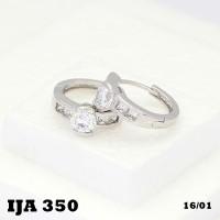 Anting Lapis Emas BAtu Zircon Silver Perhiasan Imitasi Cashback