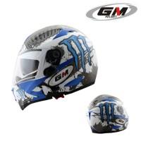 Helm GM Airborne Full Fullface Visor Blue