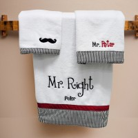 "Handuk 3 Set Valentine Mr. Right"" Free Bordir Nama by Char & Coll"