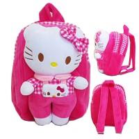 Tas Ransel Boneka Hello Kitty Bahan Yelvo Halus Lembut - Pink
