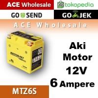 Aki kering gel 12V  6 Ampere  MOTOBATT MTZ6S accu motor u/ GS Yuasa