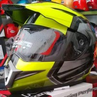 Helm KYT Enduro Yellow black Supermoto Full Super Moto Fullface