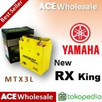 Aki kering/ New RX King Yamaha/ MOTOBATT MTX3L/ motor/ GS Yuasa 3L
