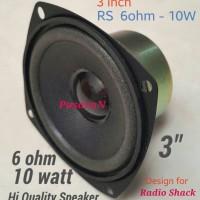 Speaker 3 inch - 6 ohm/ 10 watt. w/magnetic shield - Loudspeaker.