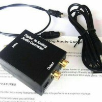 converter audio digital to analog + kabel optik