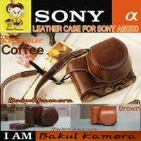 LEATHER CASE FOR SONY ALPHA A6000 / A5100 / A5000