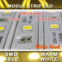 LED Modul 3 Mata Strip SMD 5050 Warm White DC 12V