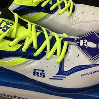Sepatu Badminton RS Super Series 614 blue / lemon