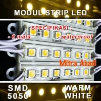 LED Modul 6 Mata Strip SMD 5050 Warm White DC 12V