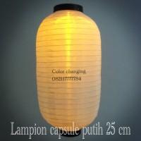 Lampion Kain capsule putih 25 cm