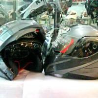 Helm KYT RRX Solid Modular Visor Flip up Fullface Original